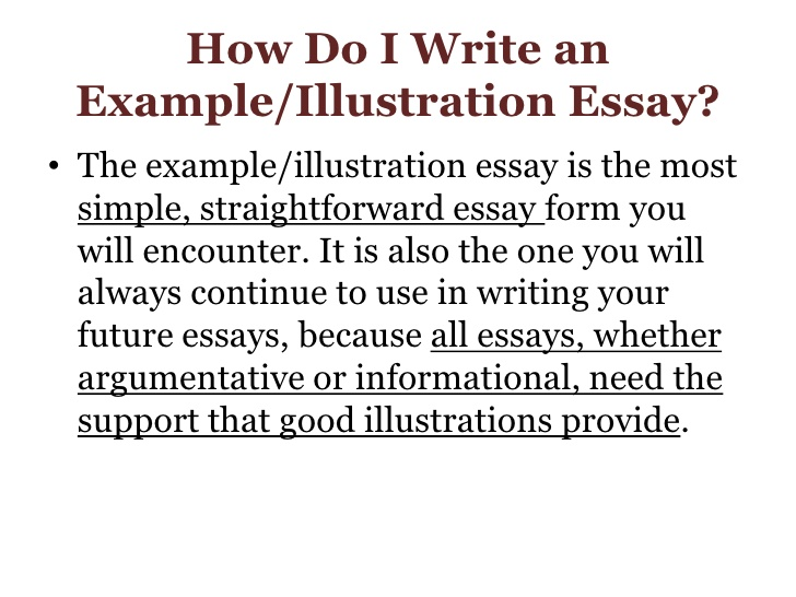 What is a illustration essay