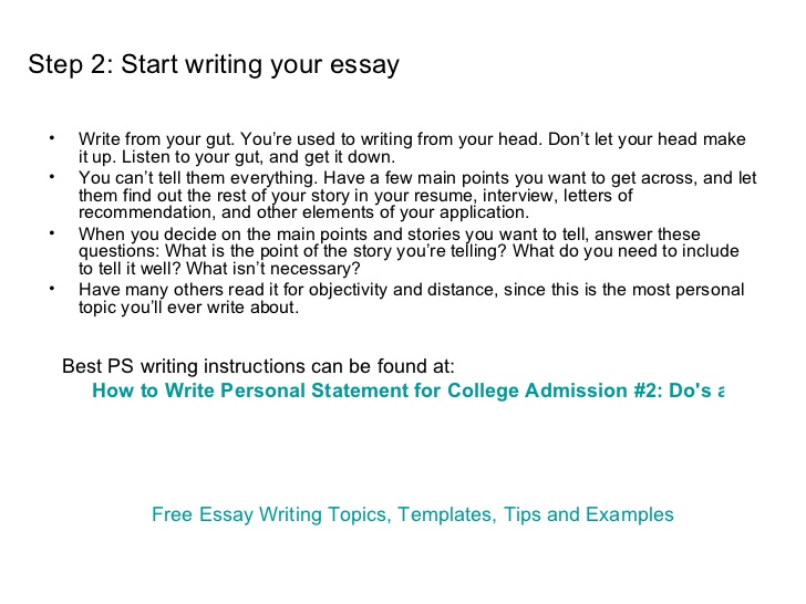 writing a personal essay for college  the writing center    writing a personal essay for college